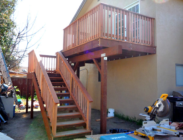 Second Story Deck With Steps Deckmasters Of San