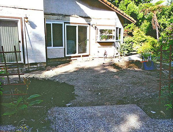 Backyard before deck was built