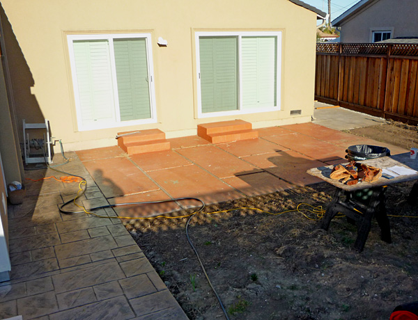 Backyard before construction